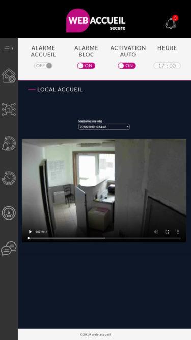 WebAccueil Secure - vidéosurveillance