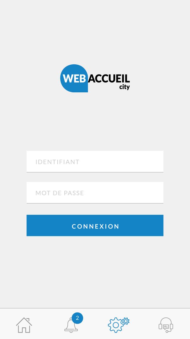 webaccueil city connexion