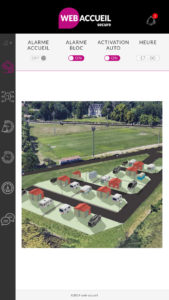 Webaccueil secure Plan de masse en 3 D de votre aire d'accueil des gens du voyage