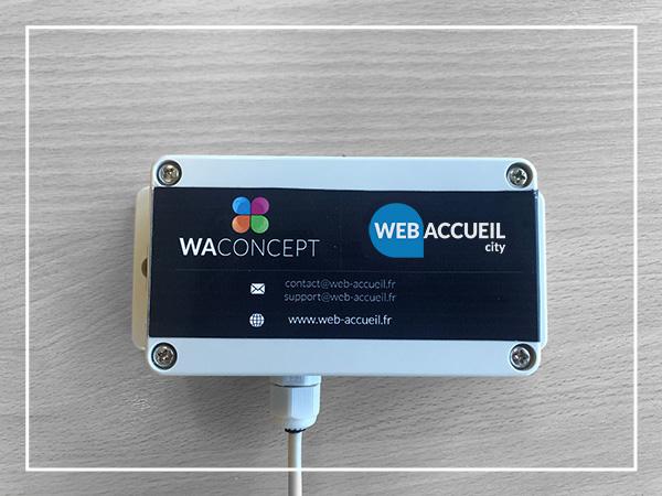 Boitier connecté et autonome web accueil city par Wa concept